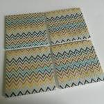 Fall Inspired Chevron Print Tile Co..